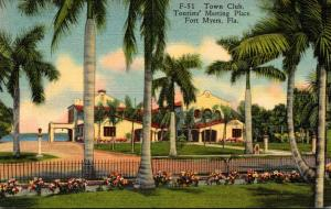 Florida Fort Myers Town Club Tourists' Meeting Place Curteich