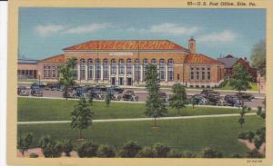 ERIE, Pennsylvania, 1930-1940's; U.S. Post Office, Classic Cars