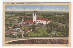 Union Pacific Railroad Depot Boise Idaho postcard