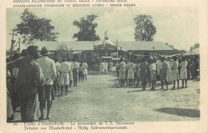 Missions Salesiennes Belgium Congo Belge Elisabethville school procession