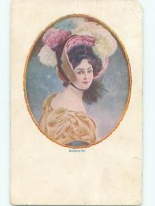 Divided-Back PRETTY WOMAN Risque Interest Postcard AA8046