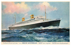 T.S.S. Nieuw Amsterdam  Holland America Line