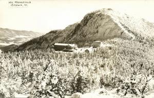 Stowe, VT., Mount Mansfield (1958) RPPC