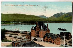 C.P.R. Station & Barrard inlet, Vancouver BC