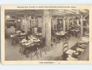 1940's WIGGINS TAVERN RESTAURANT Northampton Massachusetts MA L0234