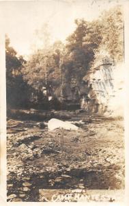 F24/ Boone Iowa Real Photo RPPC Postcard Camp Hantessa Cliff c1910