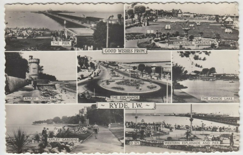 Isle of Wight; Ryde Multiview RP PPC By G Dean, 1963, To Mr & Mrs Feetenby, York