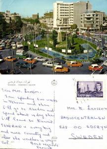 iran, TEHRAN TEHERAN, Ferdowci Square, Cars VW Bus (1970s) Stamp