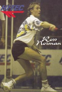 Ross Norman New Zealand Squash Tennis Champion Rare Photo Plain Back Postcard