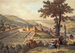 Heidelberg Hortus Palatinus um 1620 nach Th. Verhas