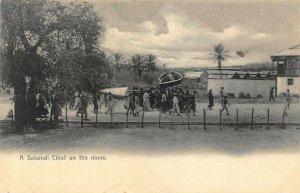 Ghana Gold Coast Sekondi Chief on the move 1905 postcard