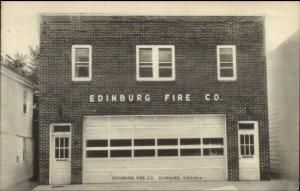 Edinburg VA Fire Station c1940s-50s Postcard