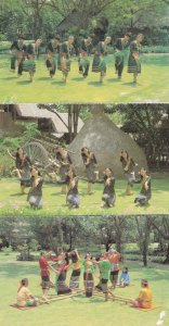 Hill Tribes Bamboo Dancing Dance North Thailand 3x Postcard s