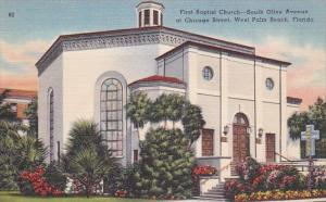 Florida West Palm Beach First Baptist Church South Olive Avenue At Chicago St...