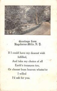 Hagedorns Mills New York Scenic Road Greeting Antique Postcard K80750
