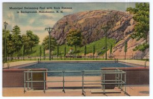 Manchester, N.H., Municipal Swimming Pool with Rock Rimmon
