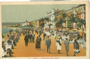 Nice, Promenade des Anglais, 1910s-1920s used Postcard CPA