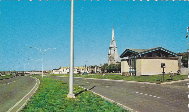 Church, Classic VW Beetle, RIMOUSKI, Quebec, Canada, 40-60's