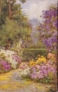 Tucks Garden Scene By Flora Pilkington All In A Garden Fair Series 2361