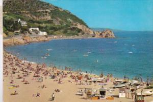 Spain Tossa De Mar Beach Scene