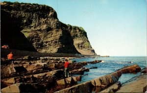 Gros Morne Rock Formations Gaspe Highway Postcard used 1961 Matane Quebec Canada