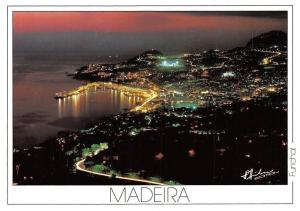 Portugal Funchal Madeira, The Town at Night Panorama