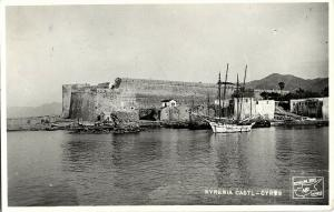 cyprus, KYRENIA, Castle from the See (1950s) RPPC Postcard