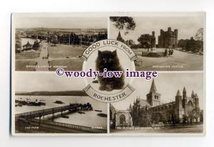 tq2043 - Kent - Multiview x 4 &  Kitten, Various Views of  Rochester - Postcard