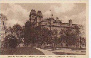 New York Syracuse University John D Archbold College Of Libral Arts Artvue