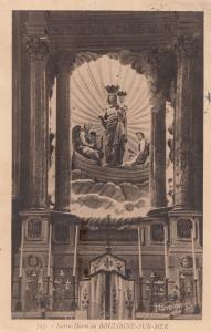 Boulogne Sur Mer Notre Dame Antique French Religious Postcard