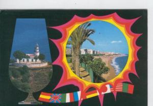 Postal 6803: Calella: vista Faro y Balcon Mediterraneo