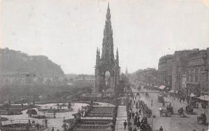 Scotland, UK Old Vintage Antique Post Card Scott's Monument Edinburgh Un...