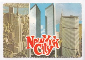 New York City, Empire State Building, Twin Towers, Pan Am Building, Postcard