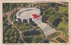 Virginia Arlington Memorial Amphitheatre Curteich
