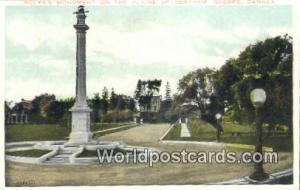 Quebec Canada, du Canada Wolfe Monument, Plains of Abraham  Wolfe Monument, P...