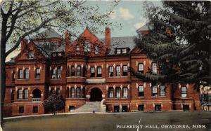 B70/ Owatonna Minnesota Mn Postcard c1910 Pillsbury Hall Building