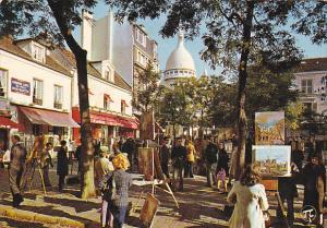 France Paris Place du Tetre et les peintres de Montmartre