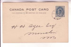 Canada Postal Stationery, Victoria 1 C Maple Leaf, 1898,New Brunswick