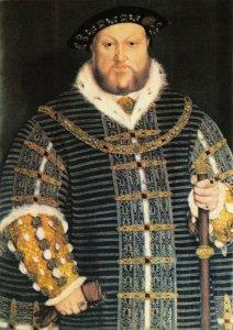 Postcard, King Henry VIII 8th portrait at Warwick Castle, Warwickshire 96Y