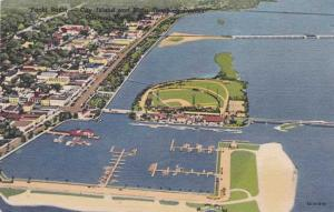 Yacht Basin and Shopping District - Daytona Beach FL, Florida - Linen