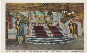 CHICAGO, Illinois; 1910-20s; Grand Stairway, Aragon, The Wonder Ballroom