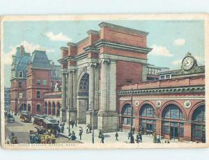 Divided-Back NORTH TRAIN DEPOT STATION Boston Massachusetts MA G2406