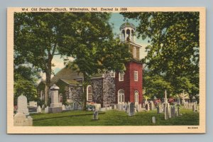 Old Swedes' Church, Wilmington, Delaware, Erected in 1698, Deleware, Postcard
