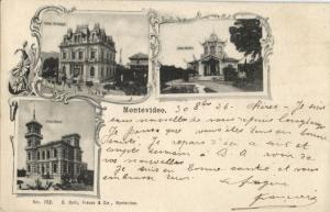 uruguay, MONTEVIDEO, Villas Arteaga, Rubio and Butler (1906) Postcard
