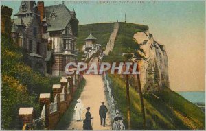 Postcard Old Treport The Cliffs Staircase