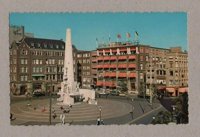 HOLLAND 1960years cars car postcard AMSTERDAM THE NETHERLANDS NEDERLAND .  .  Z1