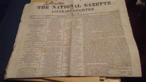 1822 NEWSPAPER THE NATIONAL GAZETTE - $150 or best offer