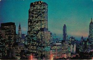 USA New York City Twilight Time Mid Manhattan 03.80