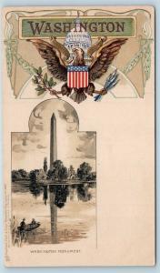 Washington DC PMC Tuck Heraldic Washington Monument Embossed US Seal S19