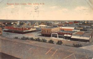 Mangum Greer Oklahoma Birdseye View Antique Postcard K39004
